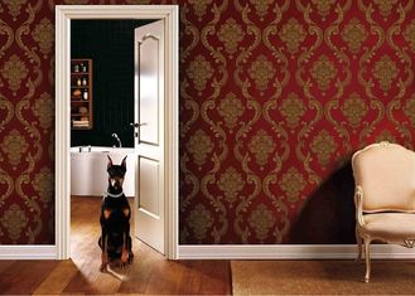 заволакивания стены ПВК живущей комнаты 0.53*10М съемные с красным цветом и цветом золота, СГС ИСО