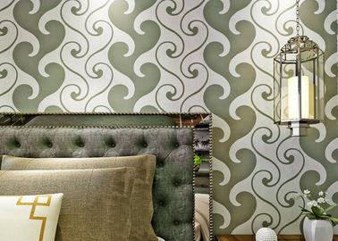 обои обоев 0.53*10м текстурированные бархатом, белых и зеленых бархата для домашнего украшения