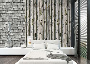 Обои дома 3д дерева серой березы/отсутствие токсической изоляция жары обоев живущей комнаты