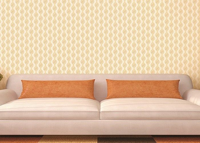 Transcend Comfortable Vinyl Damask Wallpaper Embossed Low - flammability